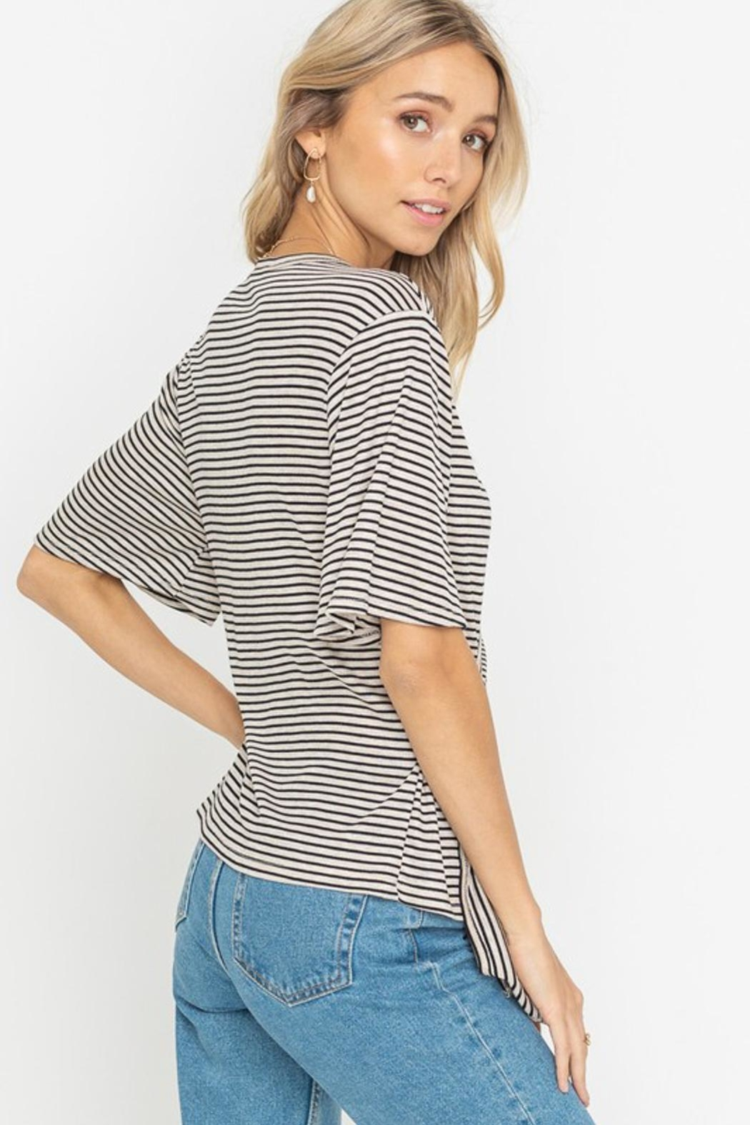 Lush Striped Top - Front Full Image