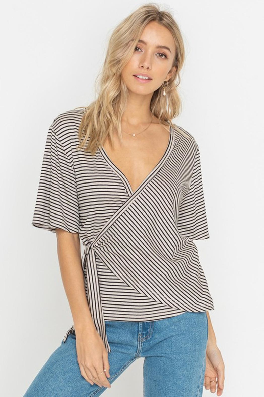 Lush Striped Top - Side Cropped Image