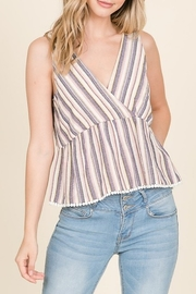 Lumiere Striped Trim Detail Tank - Product Mini Image