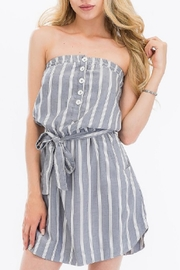 Olivaceous Striped Tube Dress - Product Mini Image