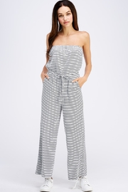 Emory Park Striped Tube Jumpsuit - Front cropped