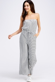 Emory Park Striped Tube Jumpsuit - Front full body