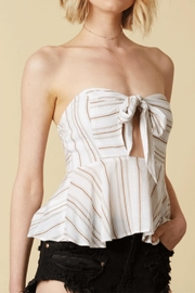 Cotton Candy LA Striped Tube Top - Front cropped