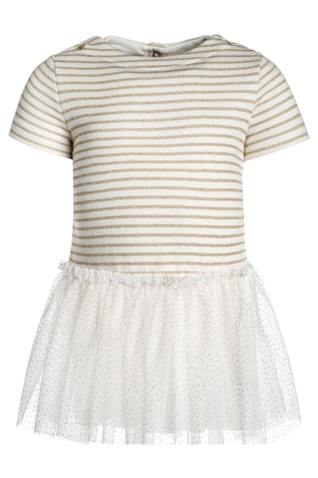 petit bateau Striped Tulle Dress - Front Cropped Image