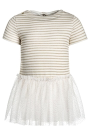 petit bateau Striped Tulle Dress - Front cropped