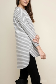 Umgee USA Striped Tunic - Front full body