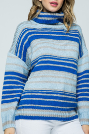 &merci Striped Turtleneck Sweater - Product Mini Image