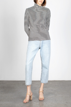 Mod Ref Striped Turtleneck Top - Product List Image