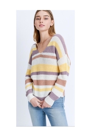 Love Tree Striped Twist-Back Sweater - Product Mini Image