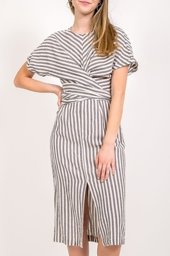 Very J Striped Twist Front Dress - Product List Image