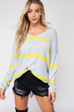 Shoptiques Product: Striped Twisted Back Sweater