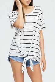 Cherish Striped V-Neck - Product Mini Image
