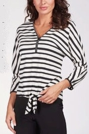 Frank Lyman Striped V-Neck Sweater - Product Mini Image