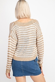 Le Lis Striped V-Neck Sweater - Side cropped