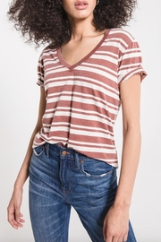 z supply Striped V-Neck Tee - Back cropped