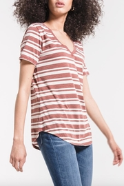 z supply Striped V-Neck Tee - Side cropped