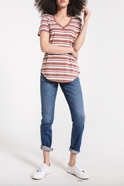 z supply Striped V-Neck Tee - Front cropped