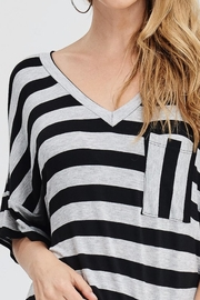 Jolie Striped V-Neck Top - Back cropped