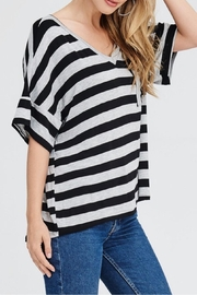 Jolie Striped V-Neck Top - Front cropped