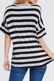 Jolie Striped V-Neck Top - Front full body