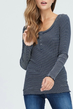 In Loom Striped Waffle Henley - Product List Image