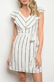 Collective Concepts Striped White Dress - Product Mini Image