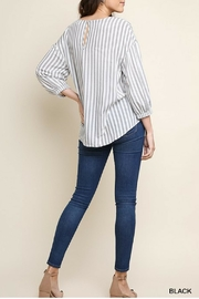 Umgee Striped Wide Neck - Front full body