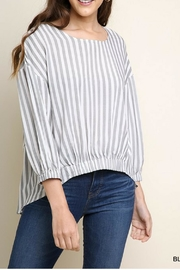 Umgee Striped Wide Neck - Front cropped