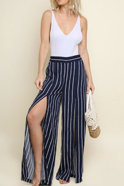 Umgee USA Striped Wide Pant - Front cropped