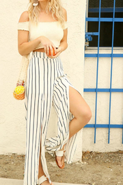 Umgee USA Striped Wide Pant - Product Mini Image