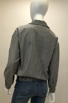 Patrizia Luca Striped Wing Collar Jacket - Alternate List Image