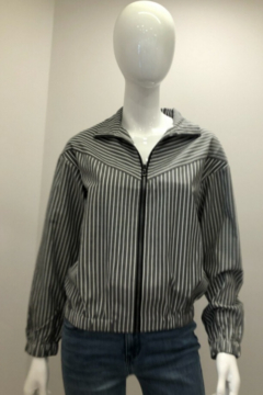 Patrizia Luca Striped Wing Collar Jacket - Product List Image