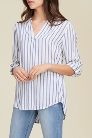 Staccato Striped Woven Blouse - Product Mini Image