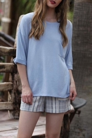 Angie Striped Woven Shorts - Product Mini Image