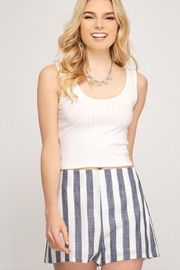 She + Sky Striped Woven Shorts - Product Mini Image