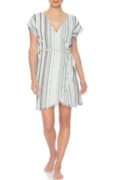 Splendid Striped Wrap Dress - Product List Image