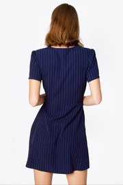 Sugarlips Striped Wrap Dress - Back cropped