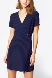 Sugarlips Striped Wrap Dress - Front cropped