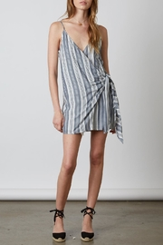 Cotton Candy LA Striped Wrap Dress - Product Mini Image