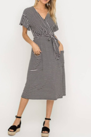 Lush Clothing  Striped Wrap Dress - Product Mini Image