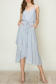 HYFVE Striped Wrap Midi Dress - Product Mini Image