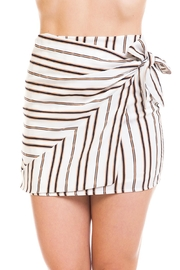 Wild Honey Striped Wrap Mini-Skirt - Product Mini Image