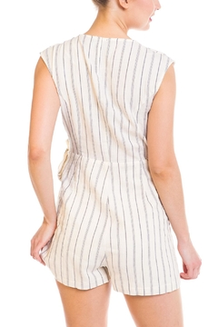 Mystic Striped Wrap Romper - Alternate List Image