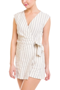 Mystic Striped Wrap Romper - Product List Image