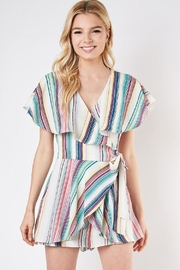 Do & Be Striped Wrap Romper - Product Mini Image