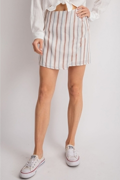 Shoptiques Product: Striped Wrap Skirt