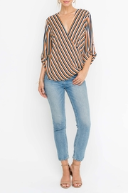Lush Striped Wrap Style Top - Product Mini Image
