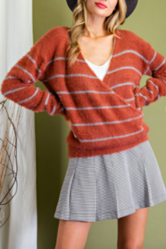 eesome Striped Wrap Sweater - Product List Image