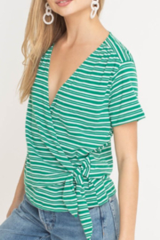 Lush Clothing  Striped Wrap Tee - Product Mini Image