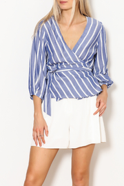 Lucy Paris Striped Wrap Top - Product Mini Image